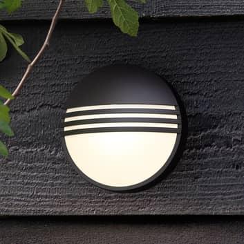 Philips Yarrow schwarze LED-Außenwandleuchte