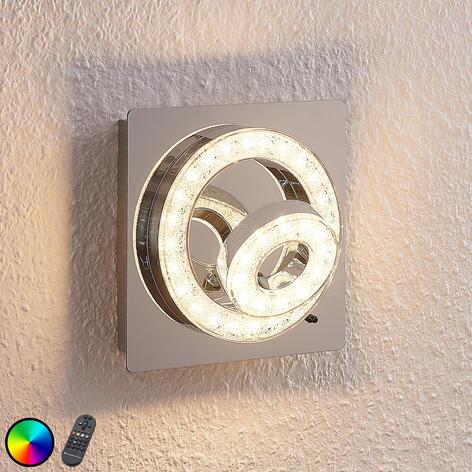 LED-kattovalaisinMikkel, RGBW 17x17cm
