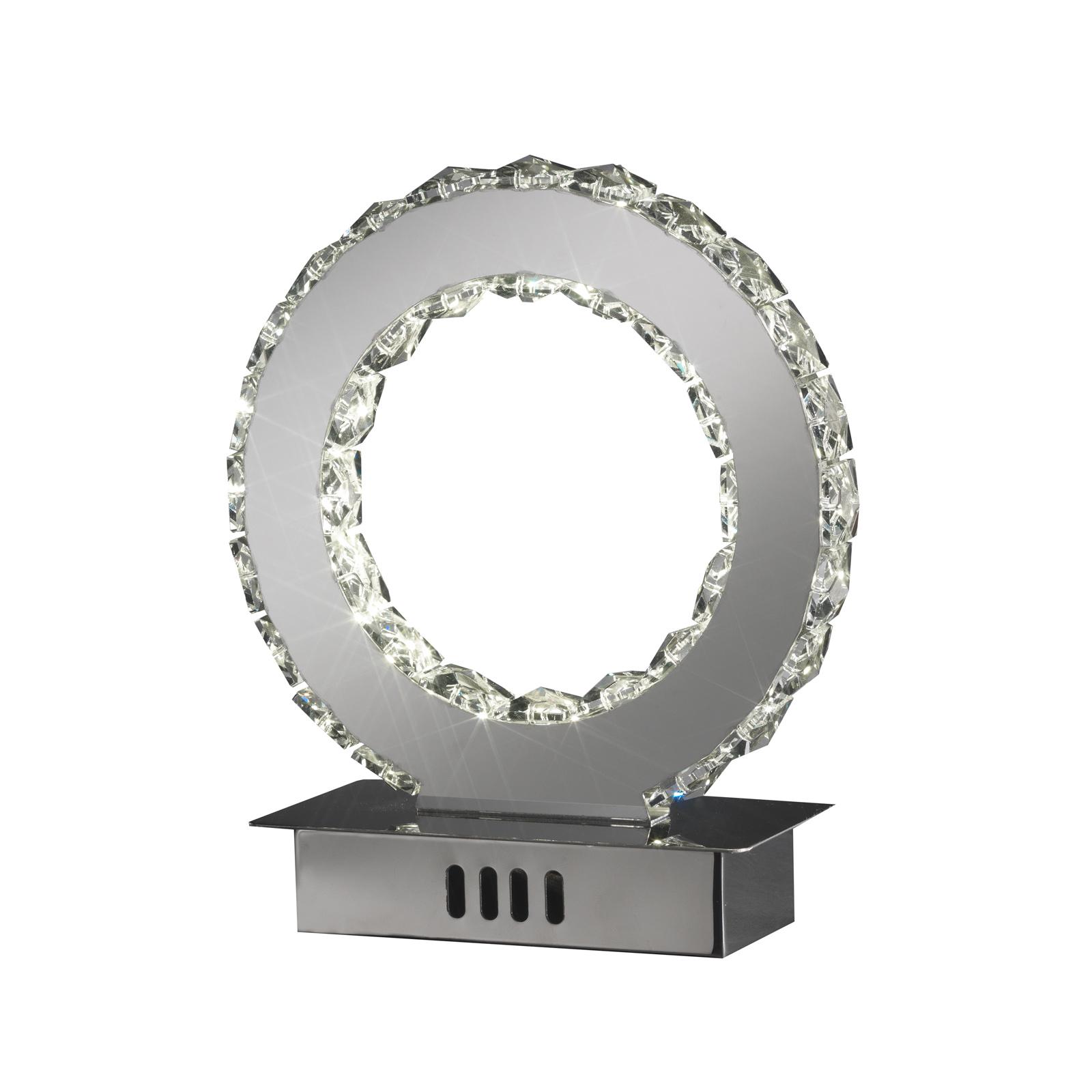 Lampa stołowa LED Saturno kryształowe szkło, 22 cm
