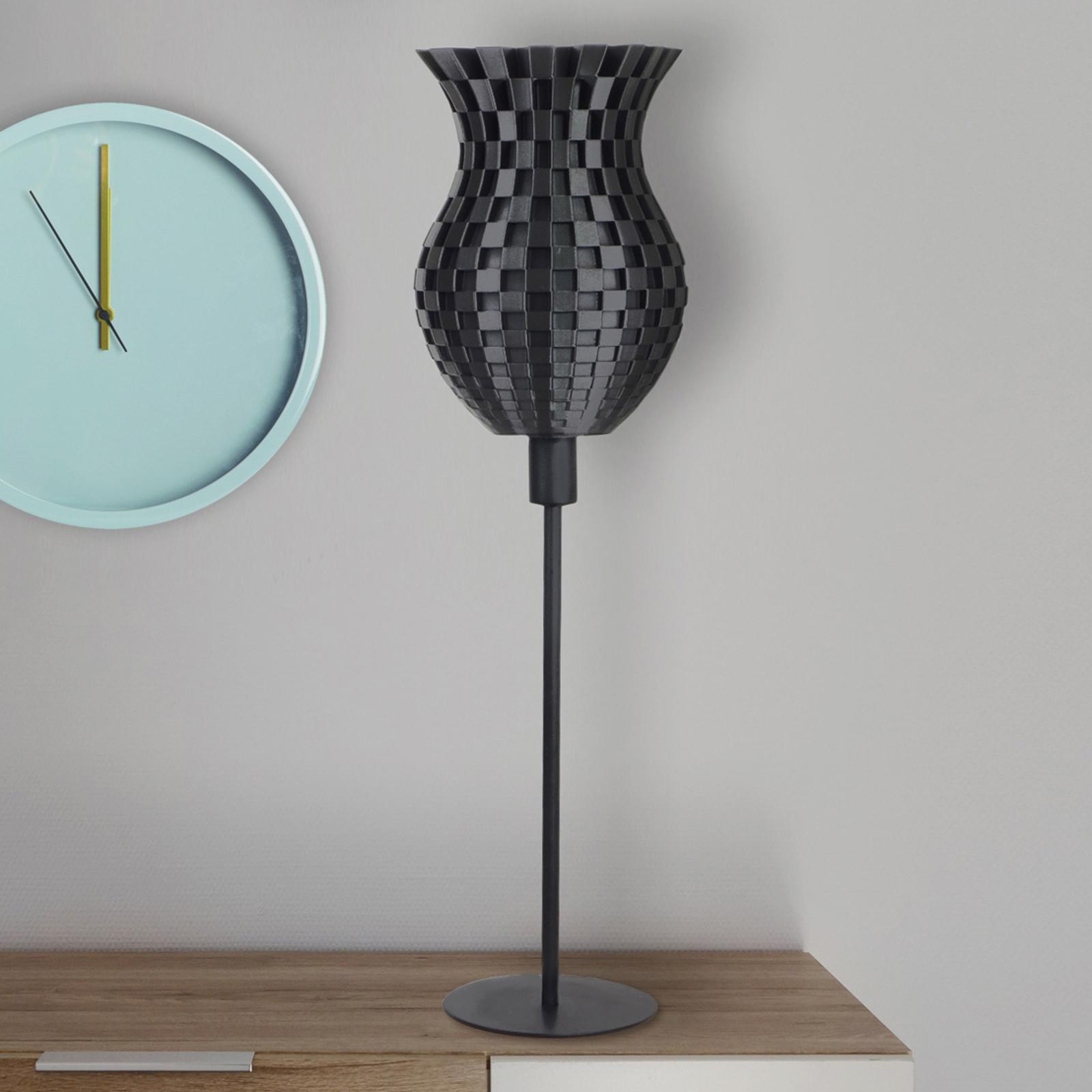 Tischleuchte Flechtwerk, 3D-Druck, graphit