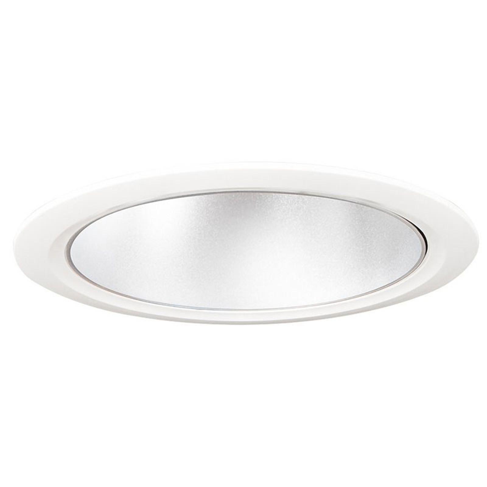 LED-Downlight D70-RF155 HF 3.000K weiß/silber matt
