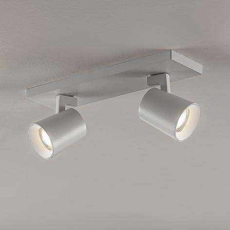 Kattokohdevalo Iavo säädettävä valkoinen 2 lamppua