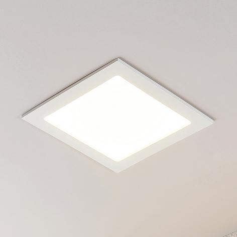 Spot encastré LED Joki blanc 3000K carré 24cm