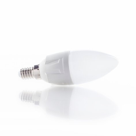 E14 6W 830 LED-lamp kaarsvormig warm-wit