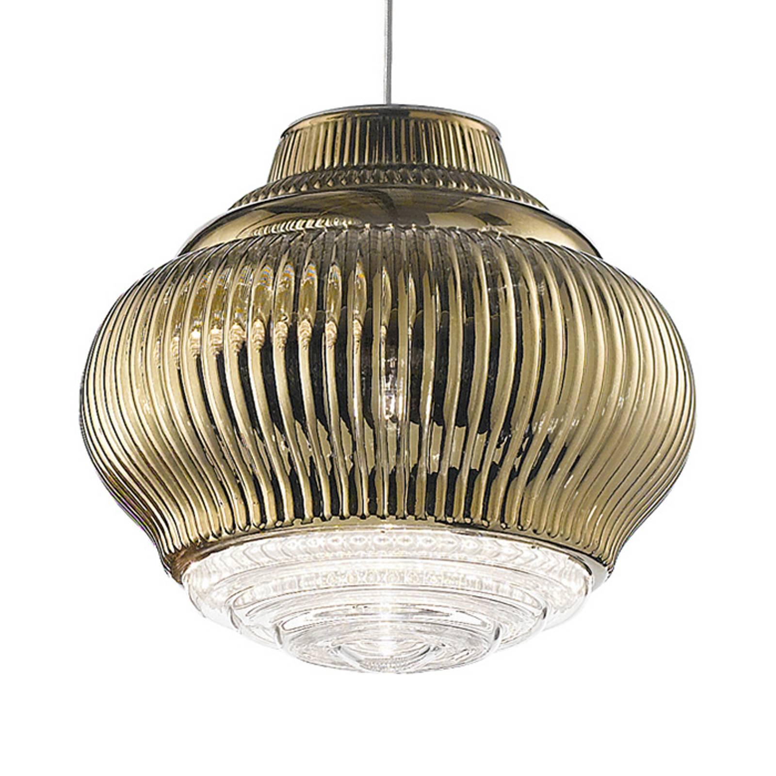 Lampa wisząca Bonnie 130 cm stare złoto metallic
