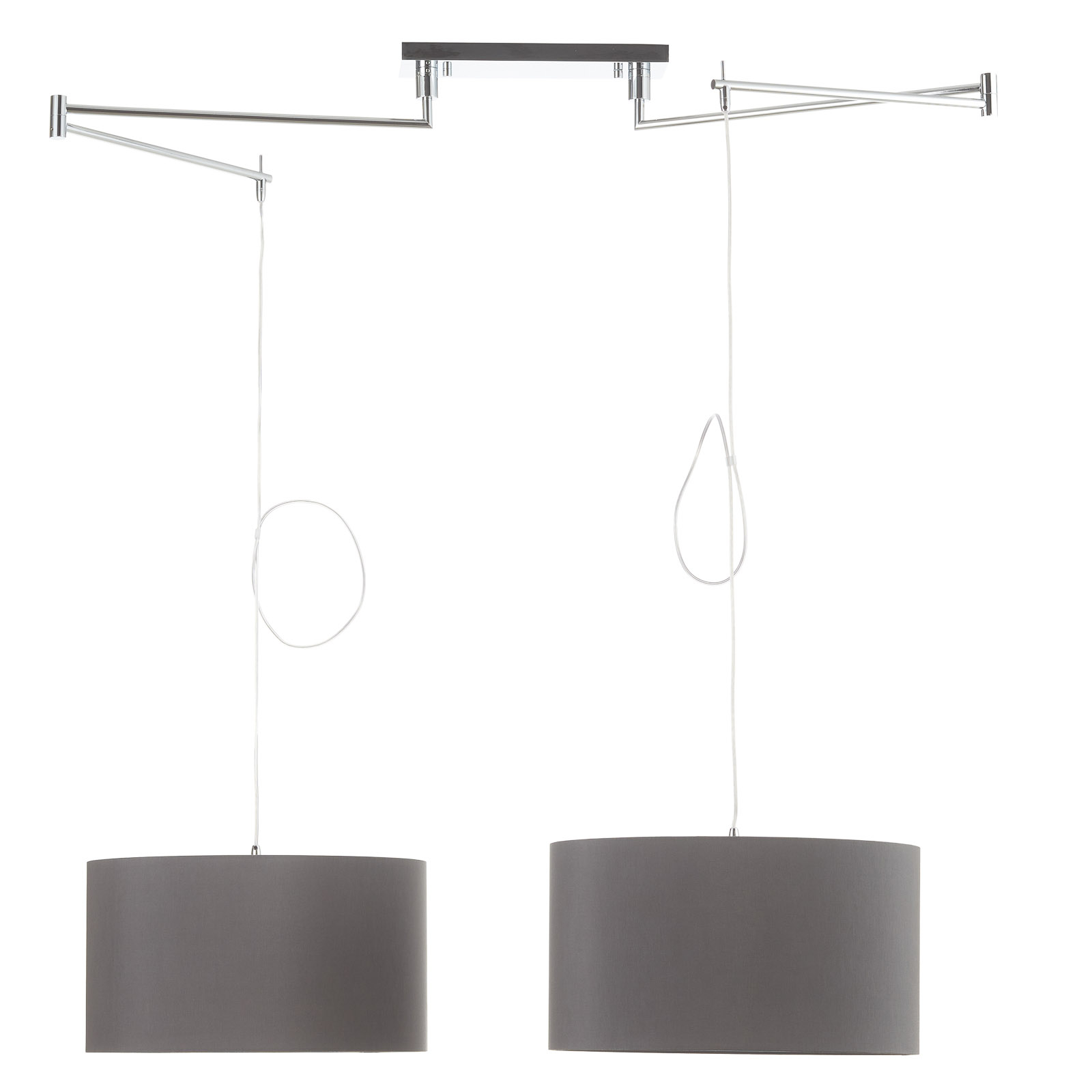 Helestra Certo hængelampe, 2 lyskilder, antracit