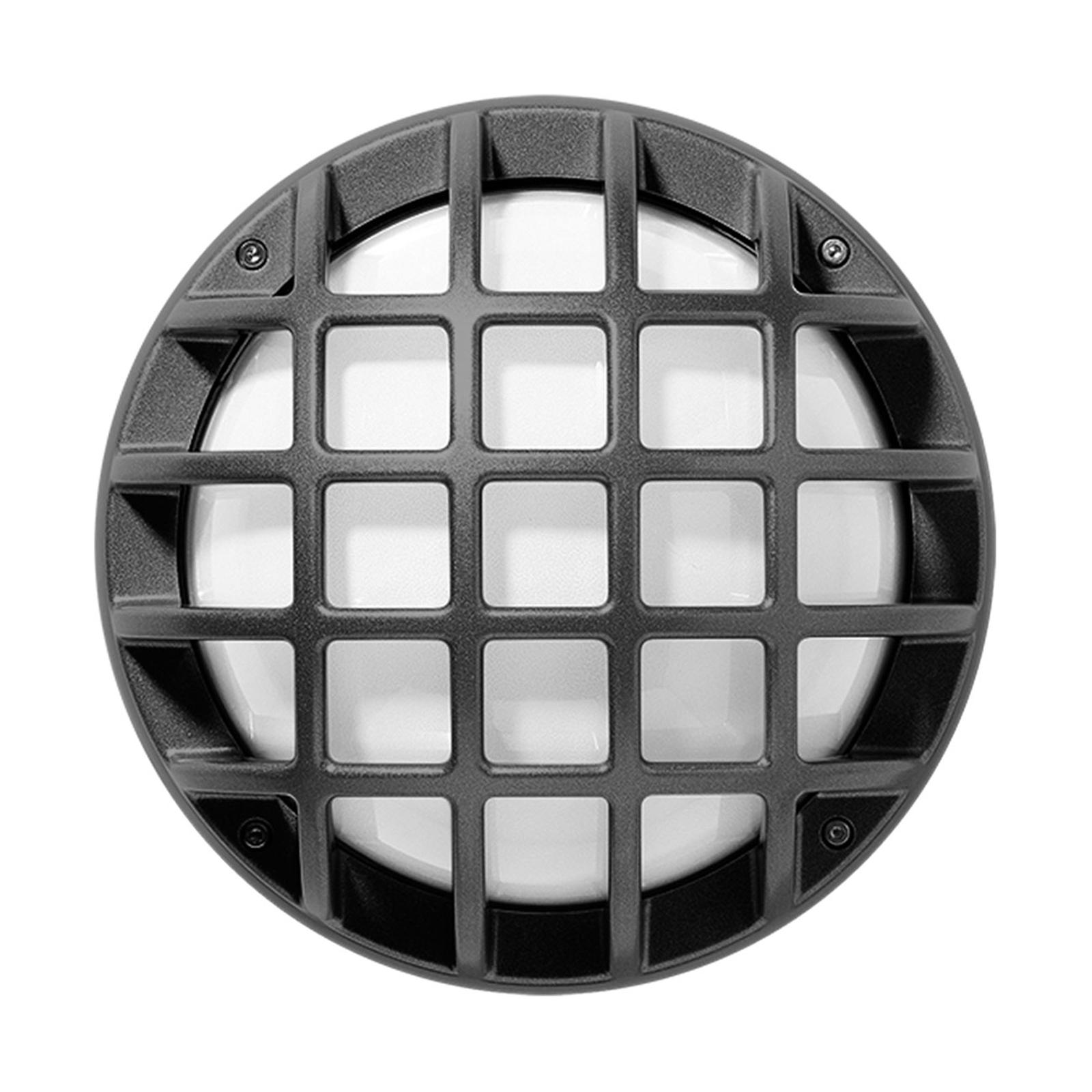 Buitenwandlamp Eko+21/G, E27, metallic antraciet