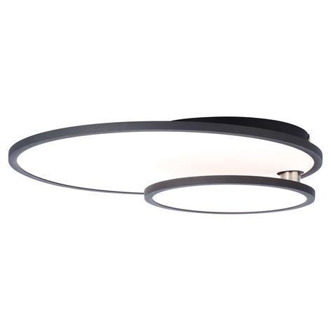 LED-Deckenlampe Bility, rund, Rahmen schwarz
