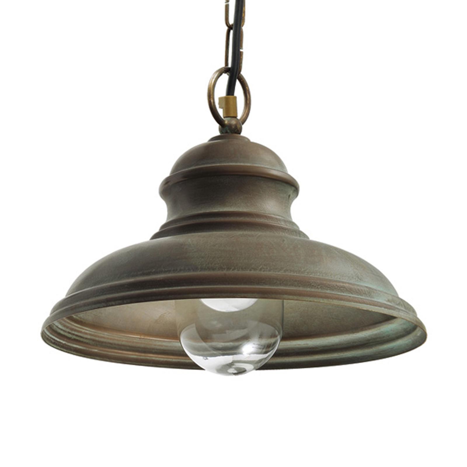 Lampa wisząca Riccardo, łańcuch, szkło, cylinder