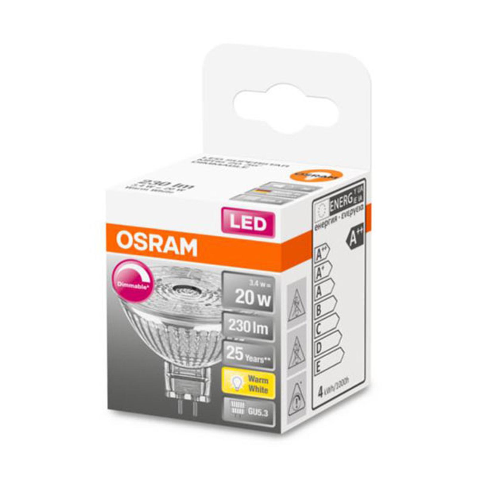 OSRAM reflektor LED GU5,3 3,4W 927 36° ściemniany