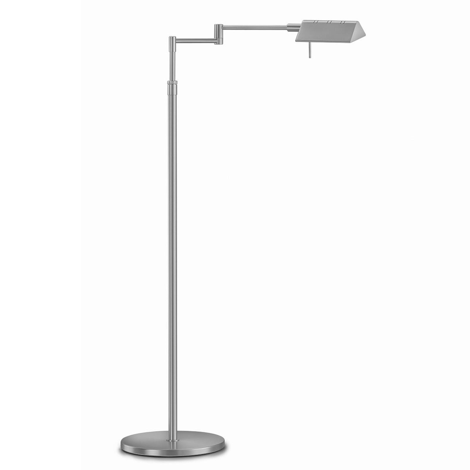 Danuta verstelbare LED vloerlamp, mat nikkel