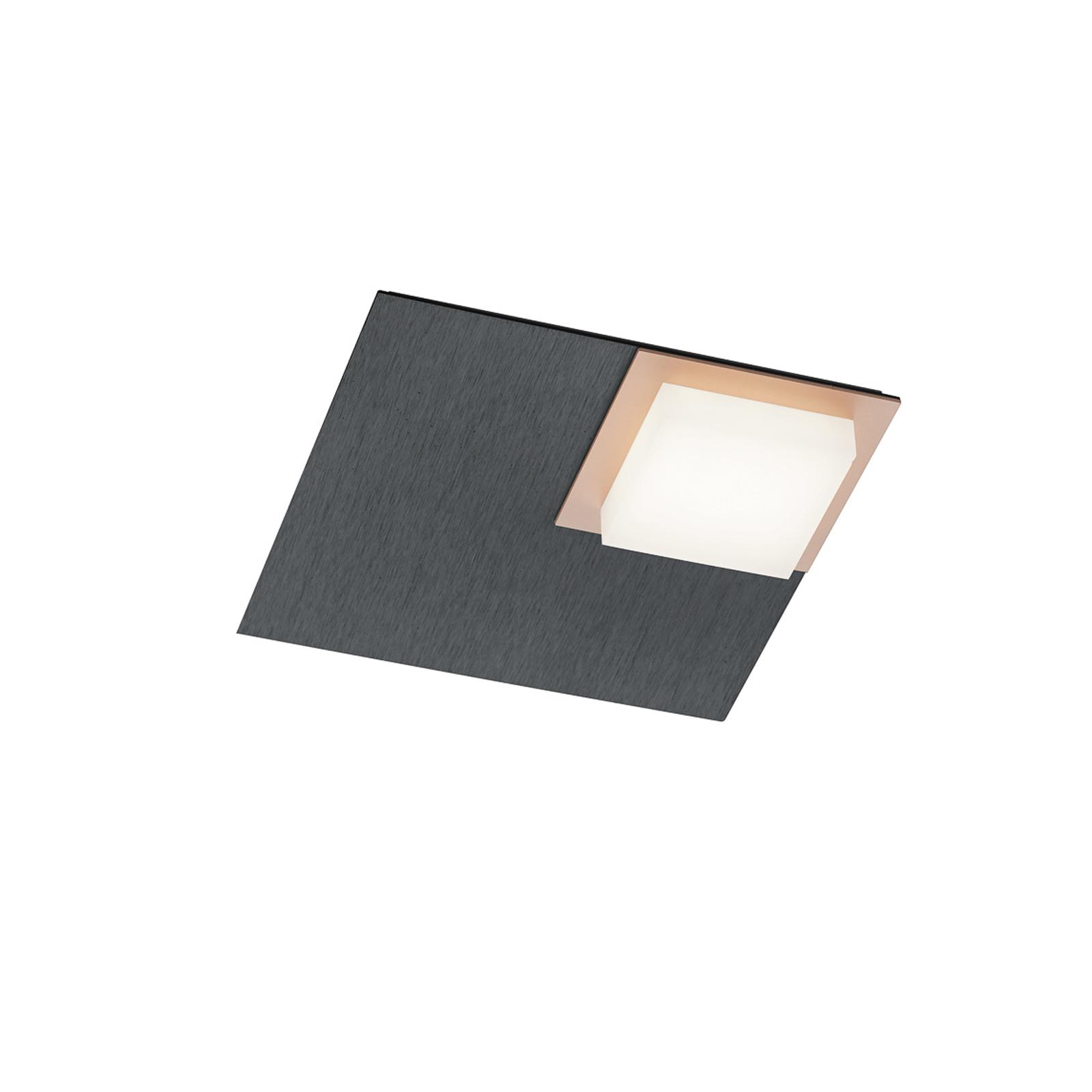 BANKAMP Quadro LED-taklampe 8W antrasitt