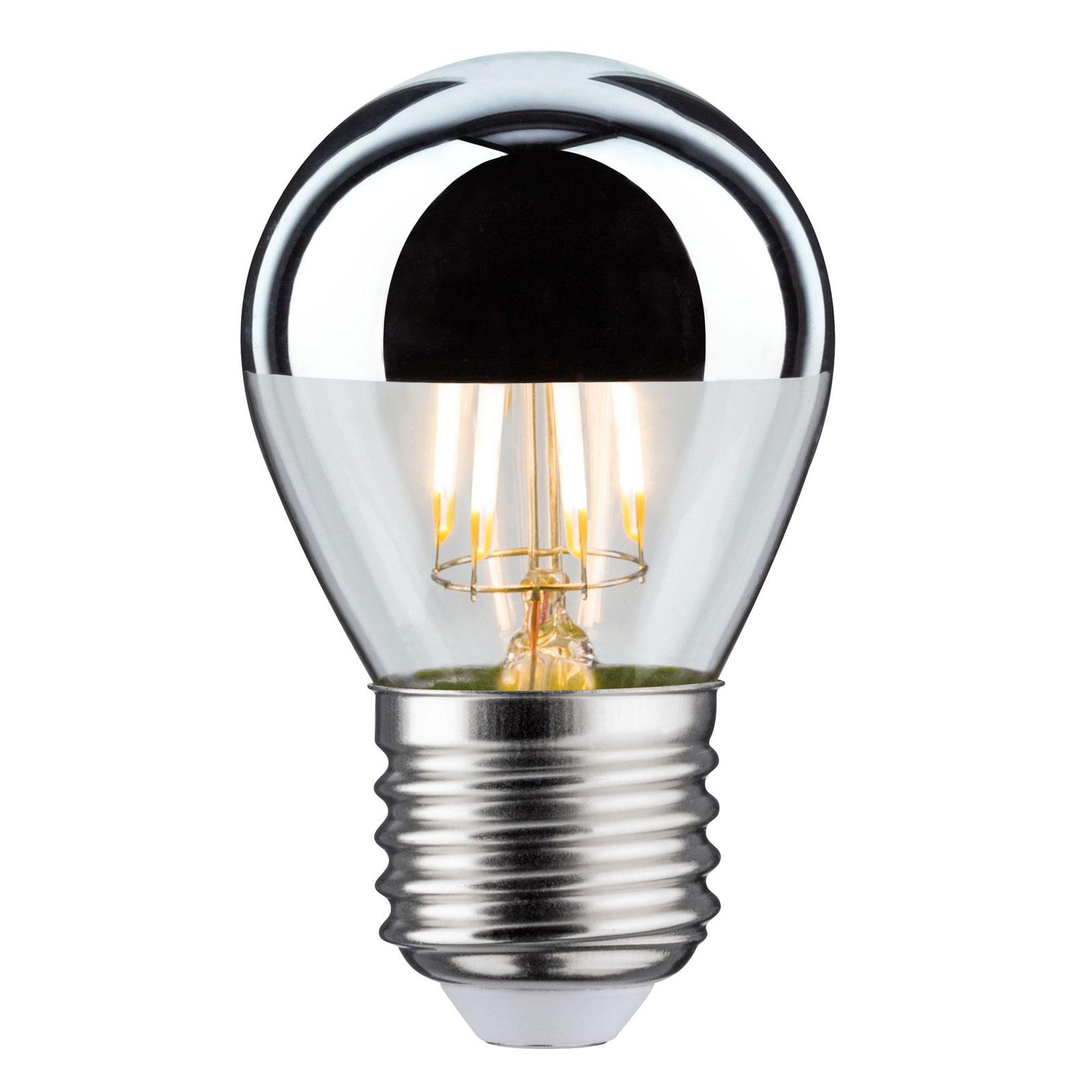 Żarówka LED E27 kropla 827 lustrzana 4,8W