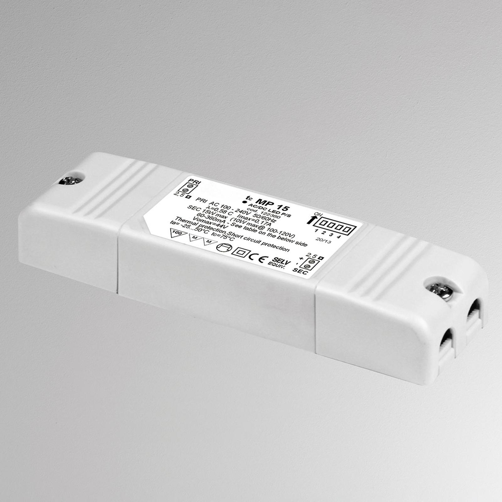 Convertisseur LED MP15, réglable, non dimmable