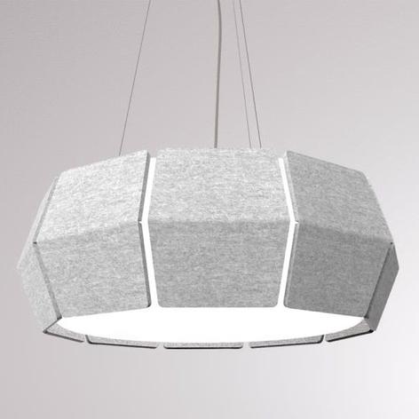 LOUM Decafelt lámpara colgante LED acústica gris