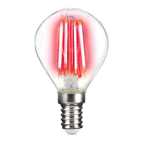 LED-lampa E14 4W filament, lyser i färg