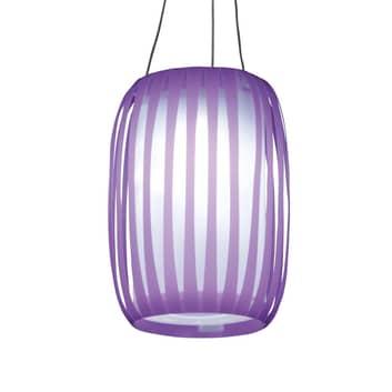 In Lampionform - LED Solarleuchte Lilja lila