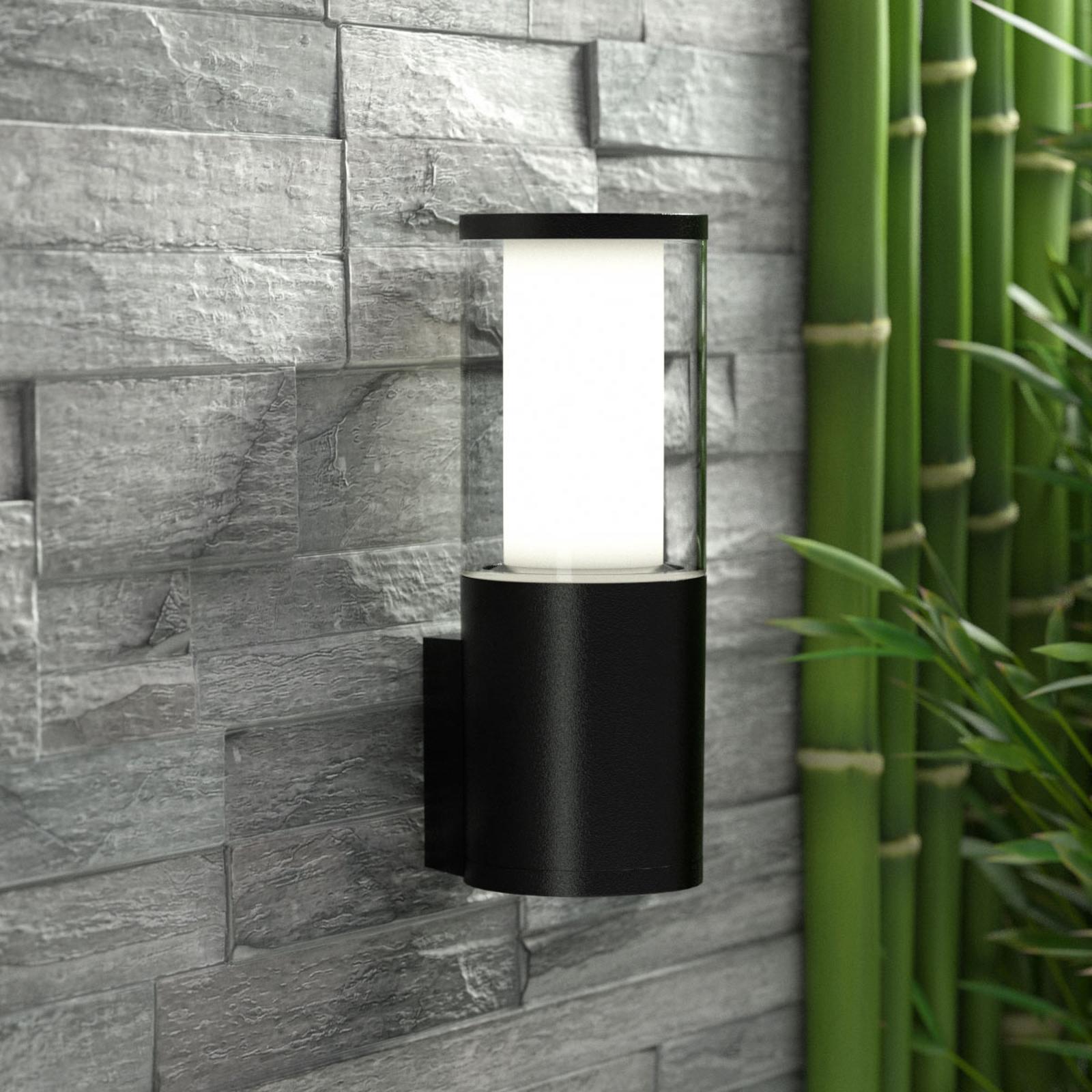 LED-Außenwandleuchte Carlo, schwarz, CCT