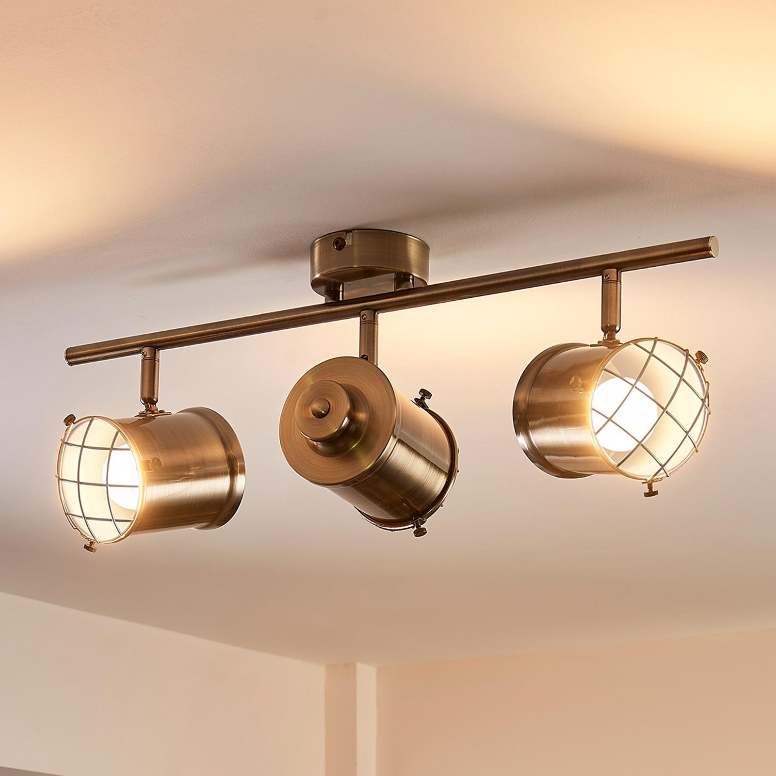 Dreiflammige Easydim-Deckenlampe Ebbi mit LED