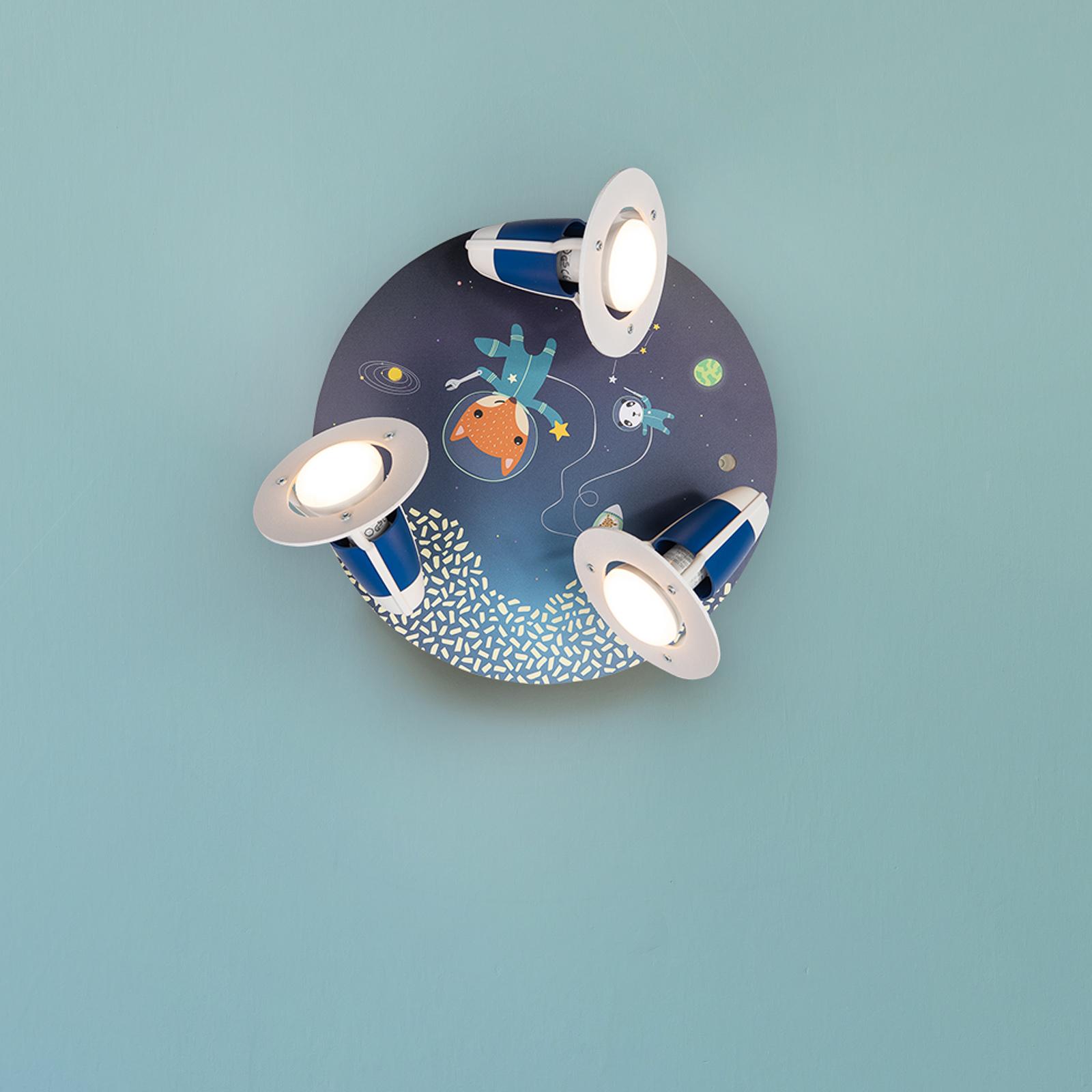 Plafondlamp Rondell Space Mission, blauw