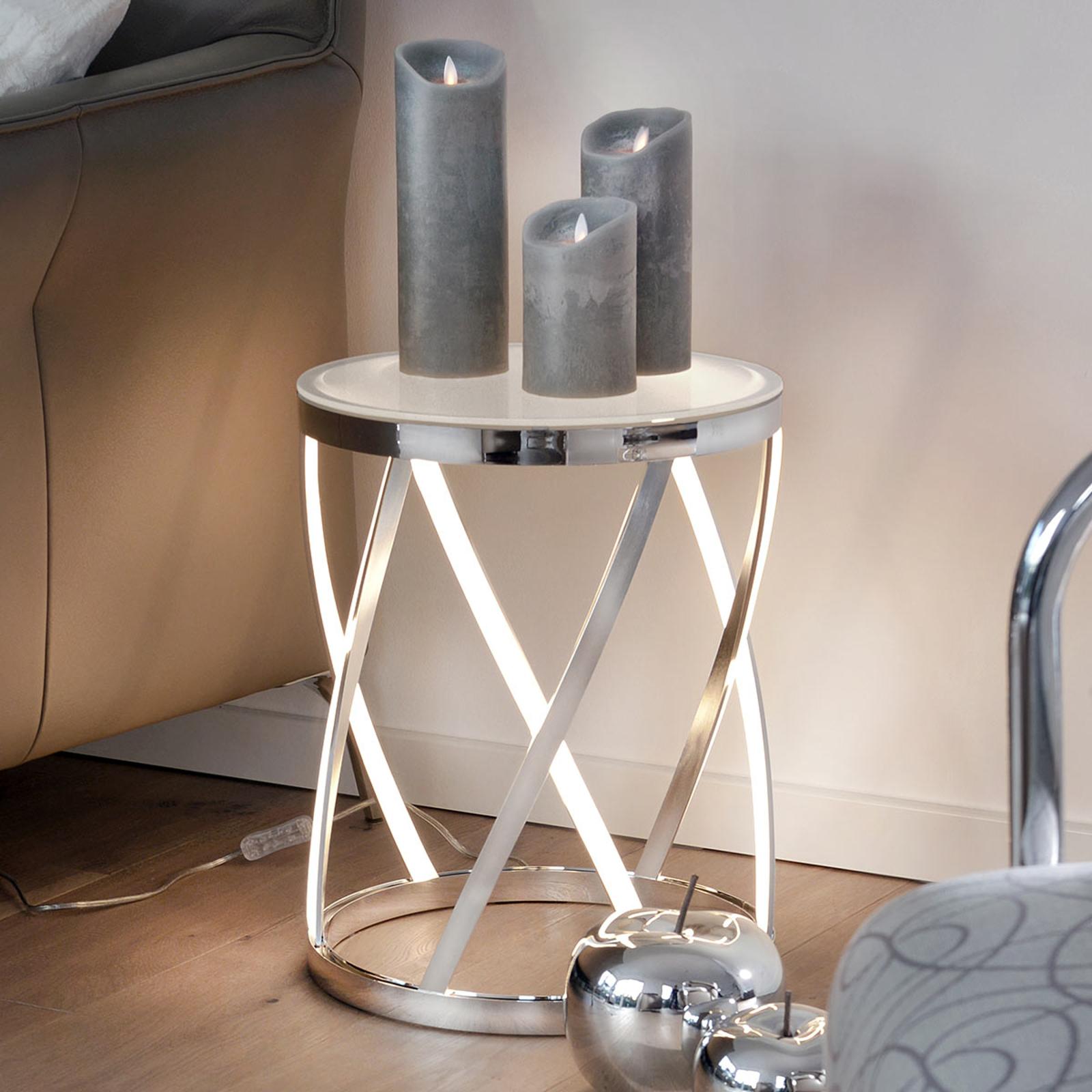 Rumpu - fuente de luz y mesa auxiliar en una