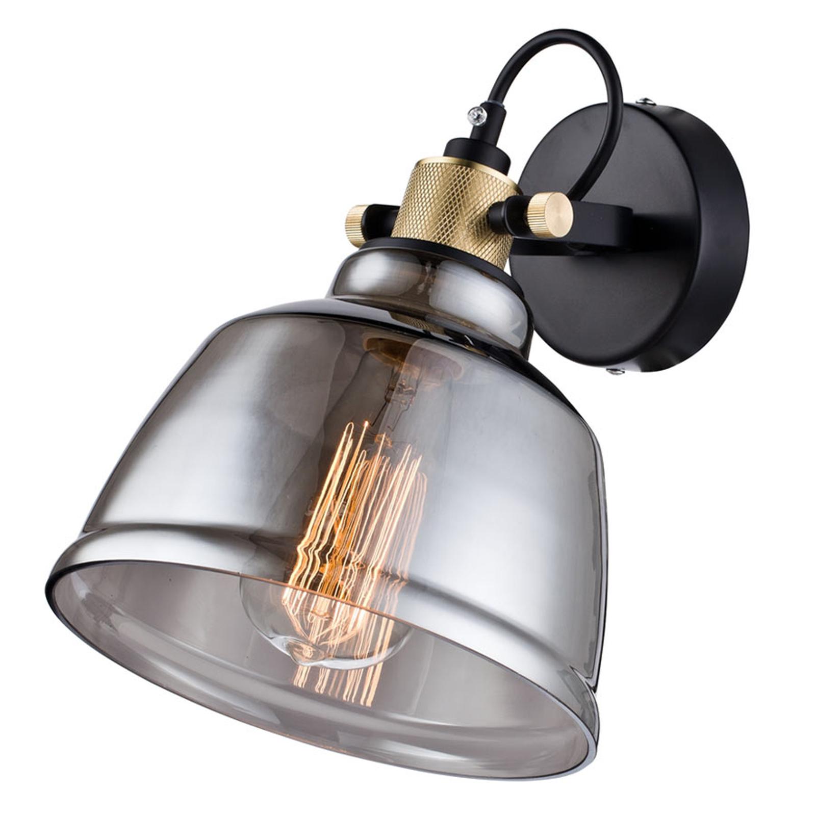 Lampenkap uit rookglas - wandlamp Irving