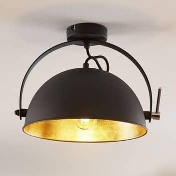 Lampa sufitowa Muriel 1-punktowa czarna/złota