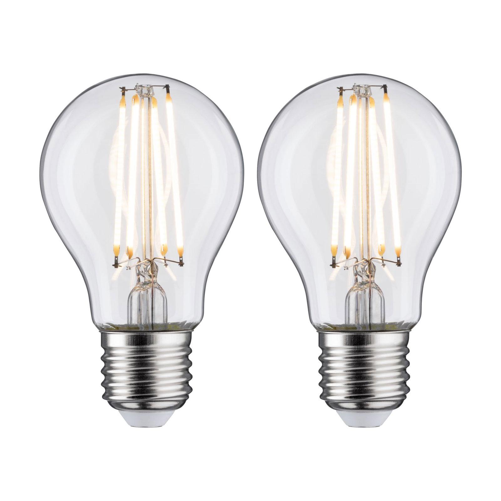 Ampoule LED E27 7W filament 2700K lot de 2