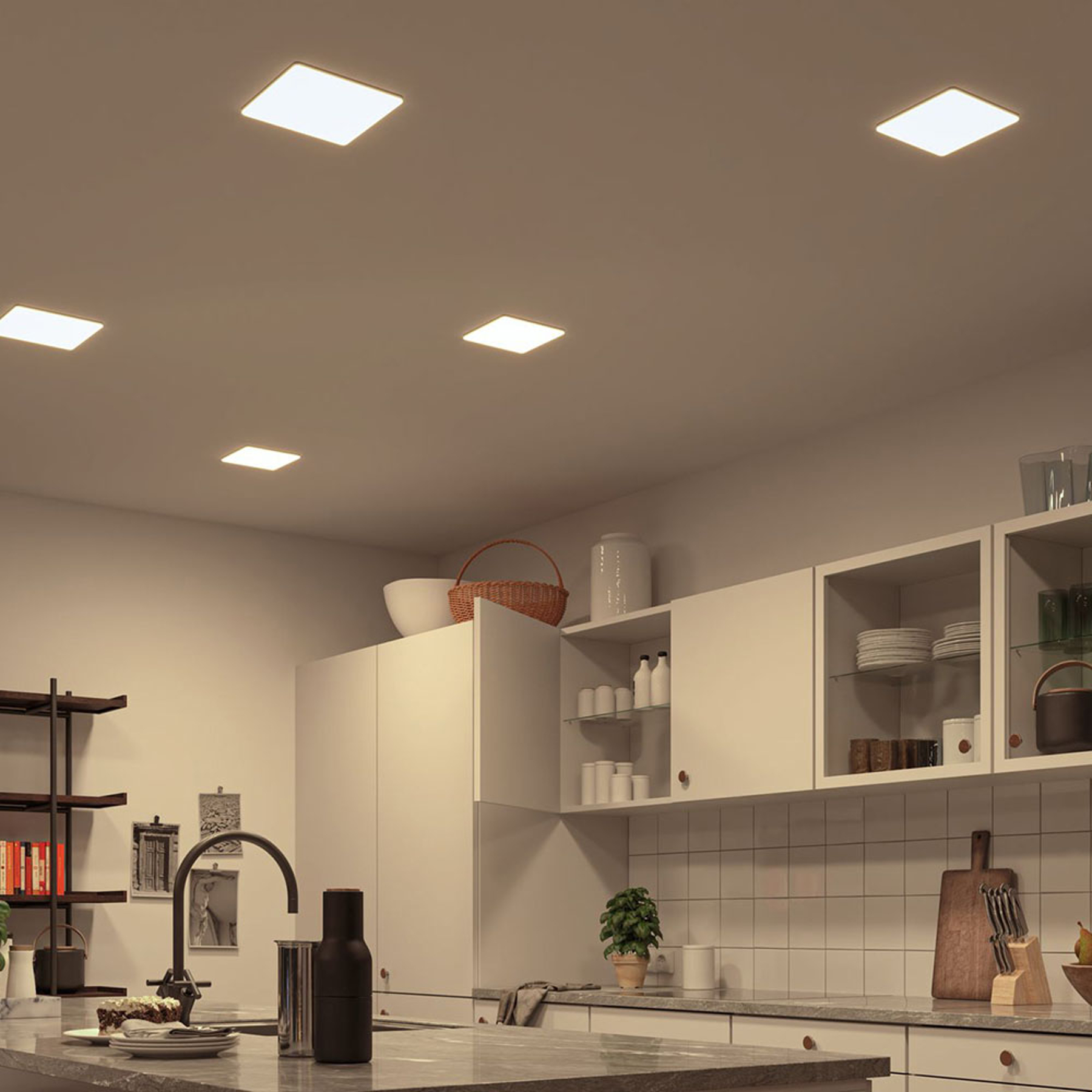 Paulmann LED-Panel Veluna eckig CCT ZigBee 18,5cm
