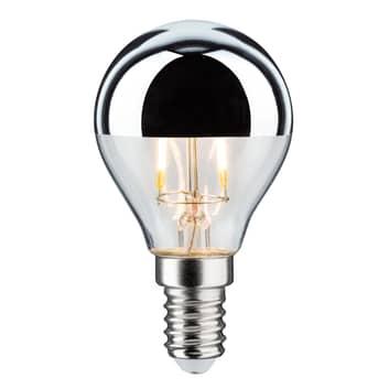 LED-lamppu E14 827 pisara pääpeili hopea 2,6 W