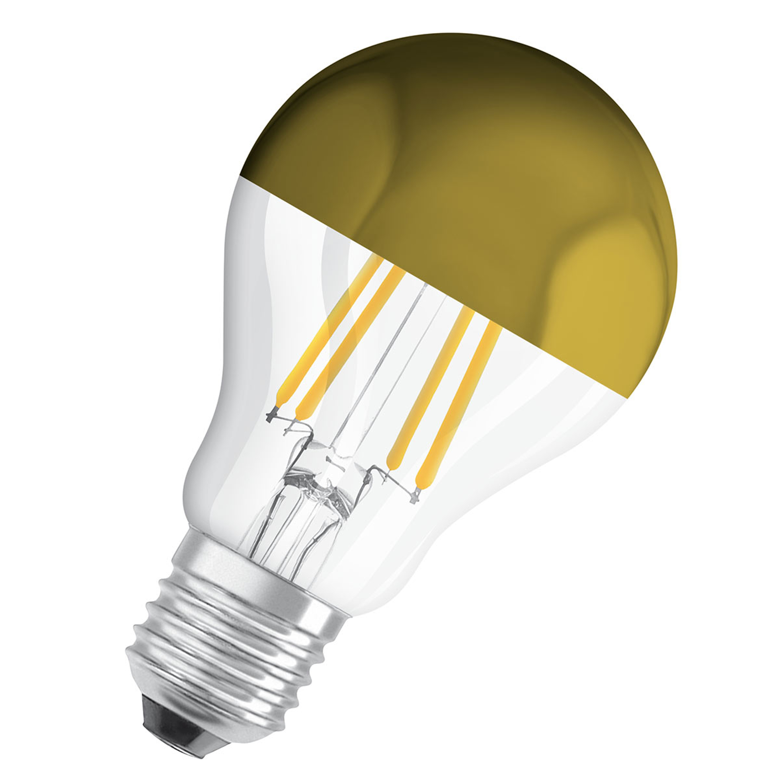 OSRAM LED-Lampe E27 CLA Mirror gold 4W 2.700K