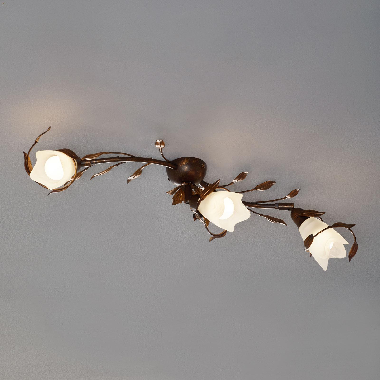 Plafonnier CAMPANA floral à 3 lampes