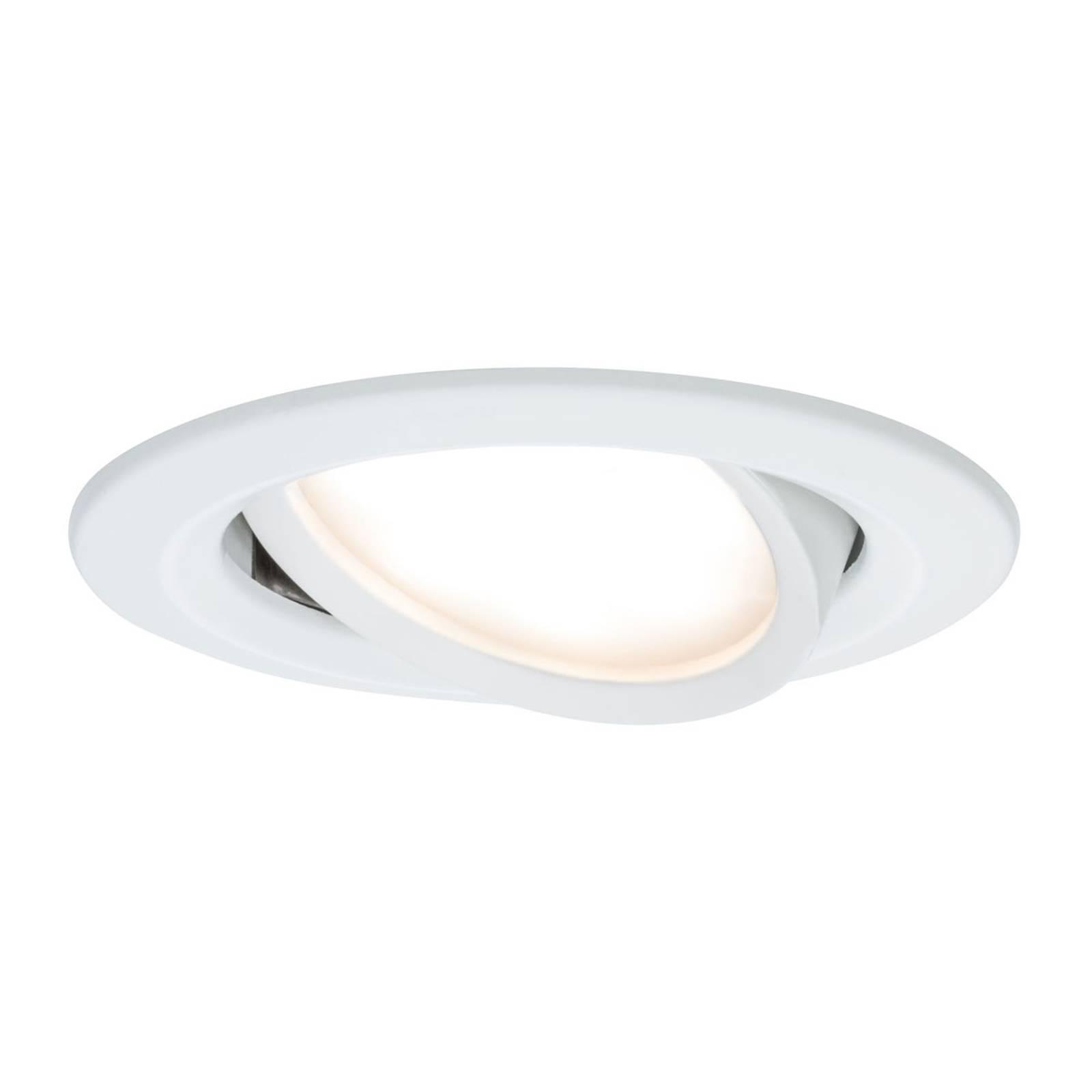 Paulmann Nova Coin faretto LED tondo, bianco