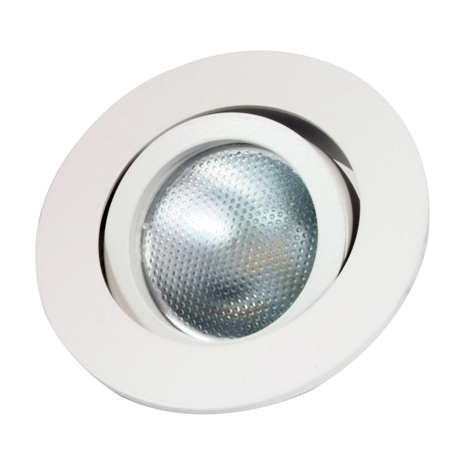 Decoclic LED-indbygningsring GU10/GU5.3 rund, hvid