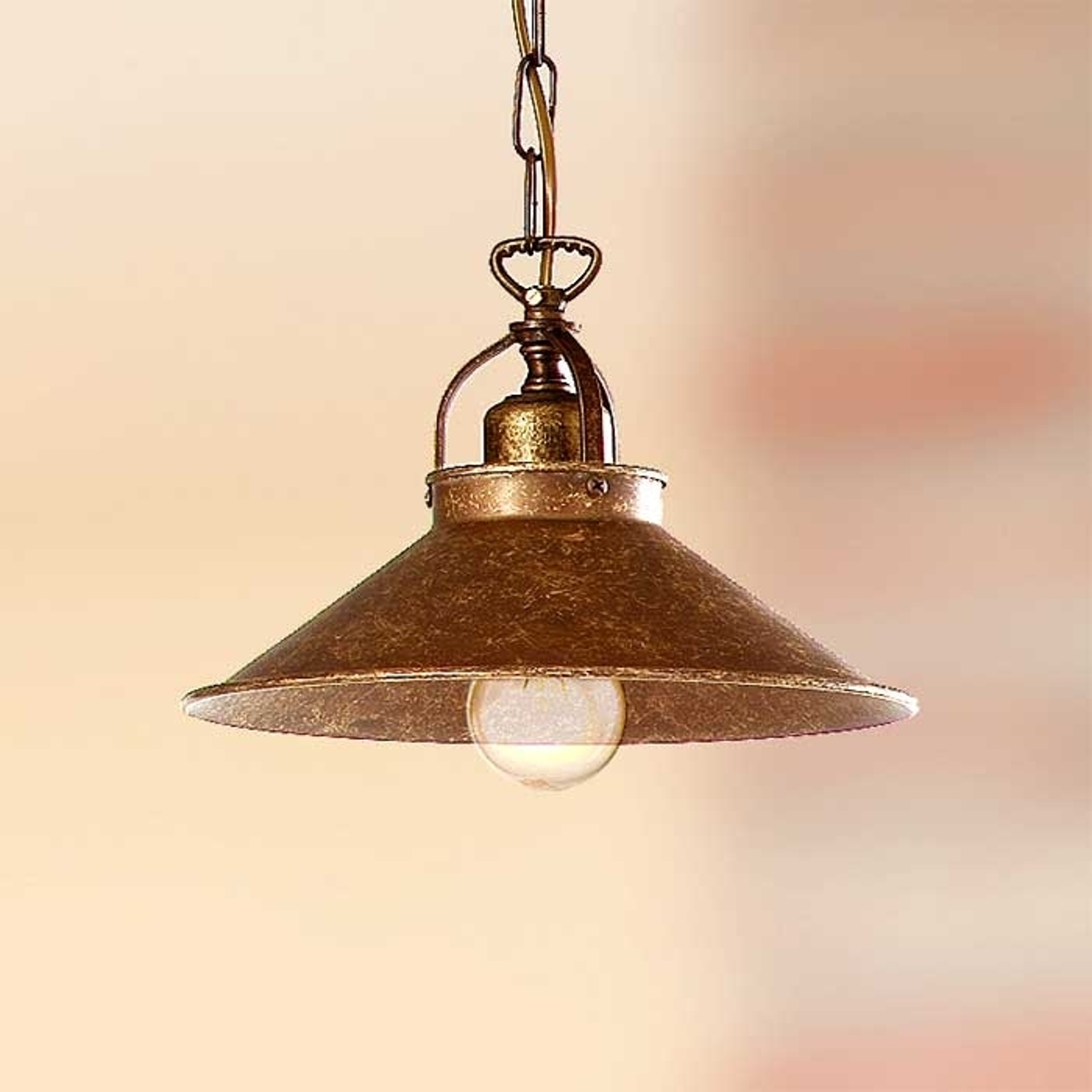 Lampada a sospensione rustica BRUNO 25 cm