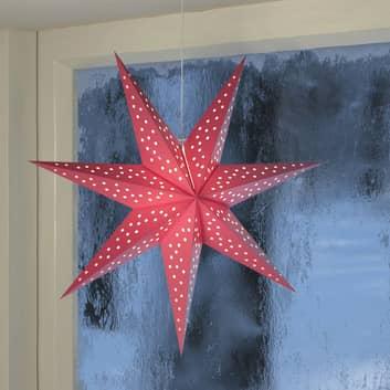 Étoile Clara à suspendre, aspect velours Ø 75cm