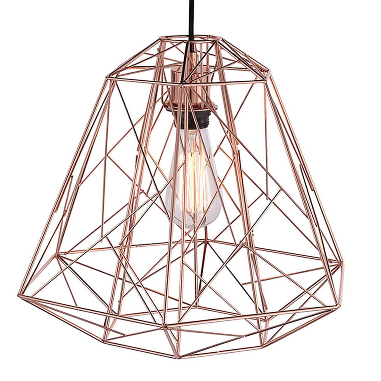 Skeletton - hanglamp in glanzend koper
