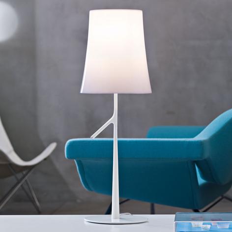 Foscarini Birdie grande bordlampe hvid dæmpbar