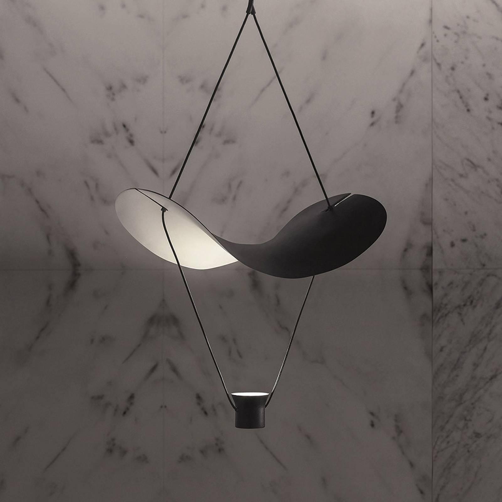 LED hanglamp Vollee S1 G, 88 cm, zwart