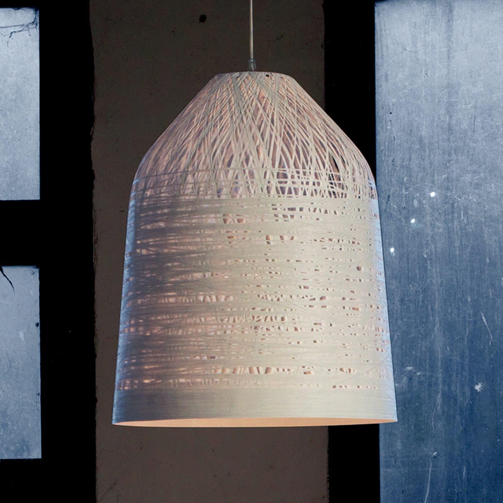 Suspension design blanche Black Out, 50 cm