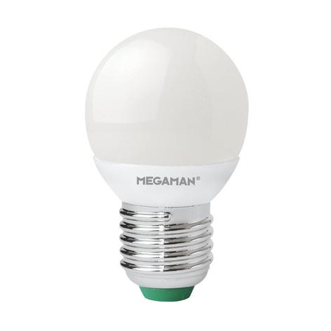 E27 3,5W LED kapková žárovka matná, 2800K