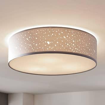 Lampa sufitowa Umma, bezpośrednio na sufit, szara
