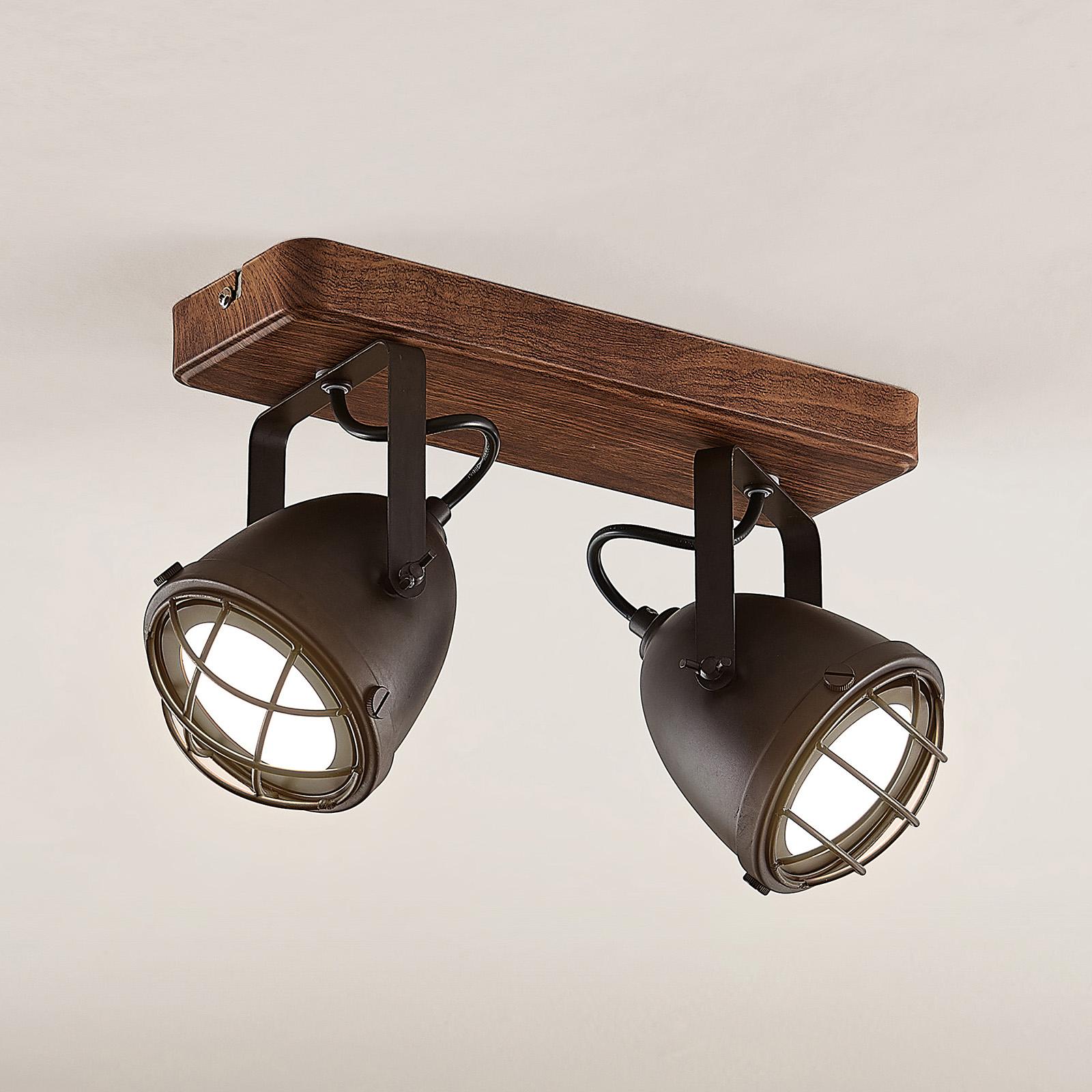 Lindby Adeon LED-loftlampe, 2 lyskilder