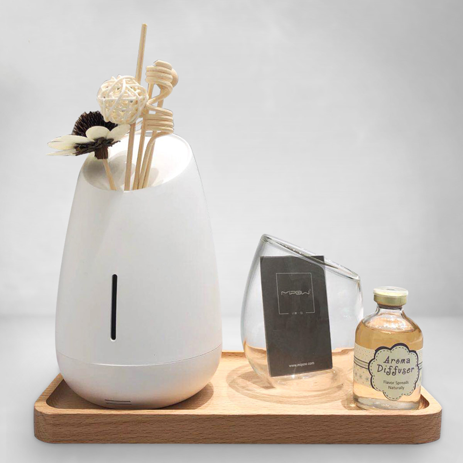 MiPow Vaso Aroma-diffusor met muziek, wit
