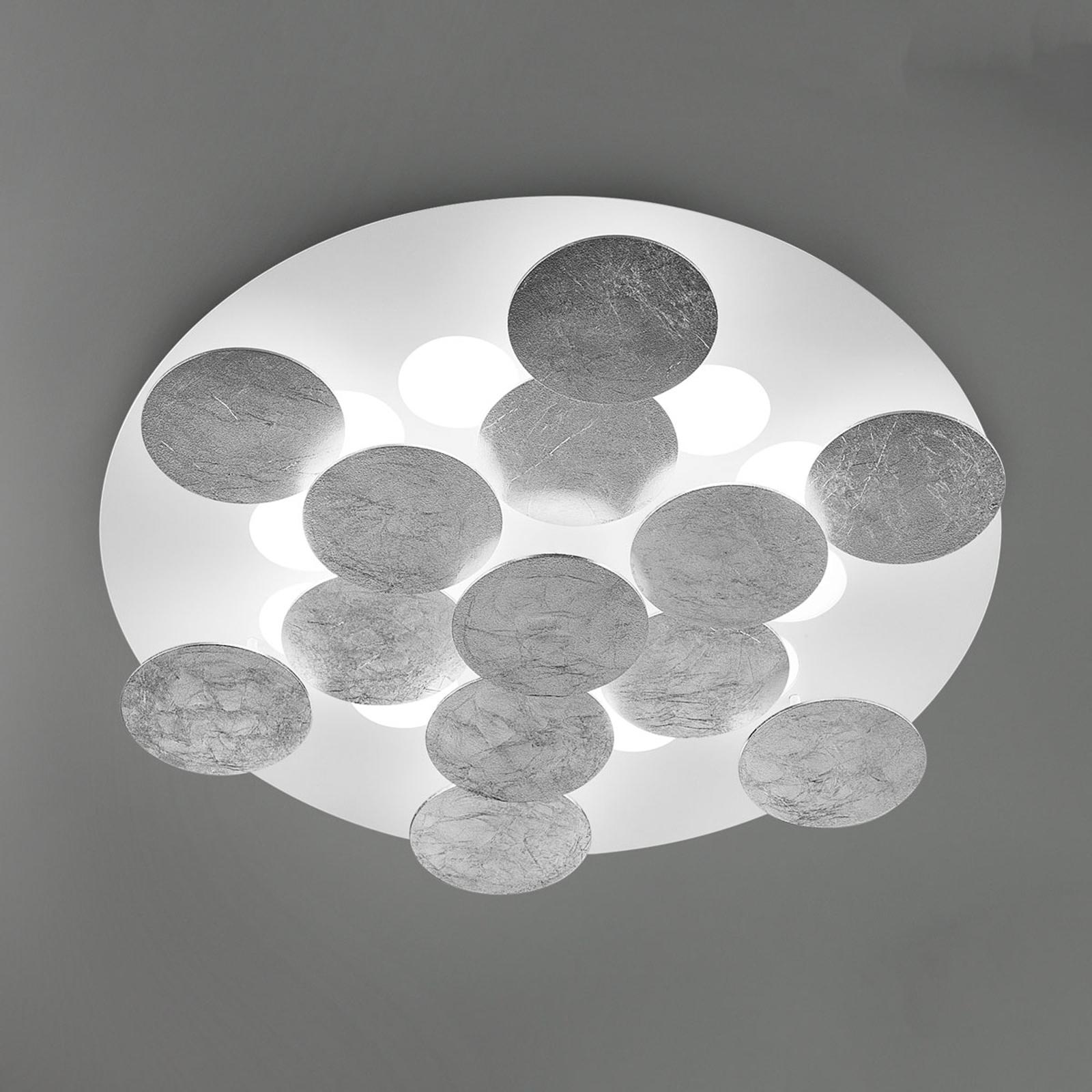 Belagt med sølvfolie - LED-taklampe Nuvola