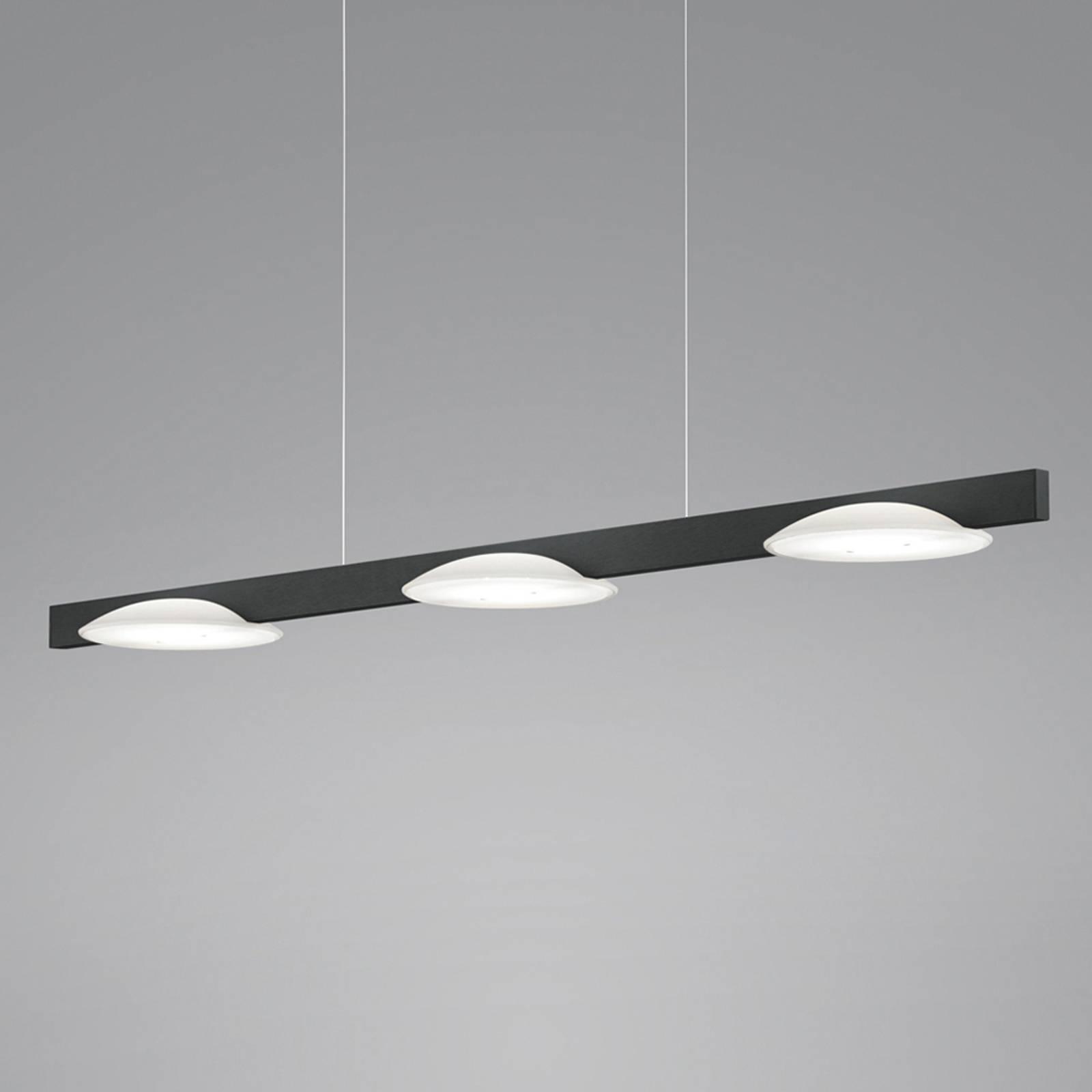 Helestra Pole LED hanglamp 3-lamps zwart
