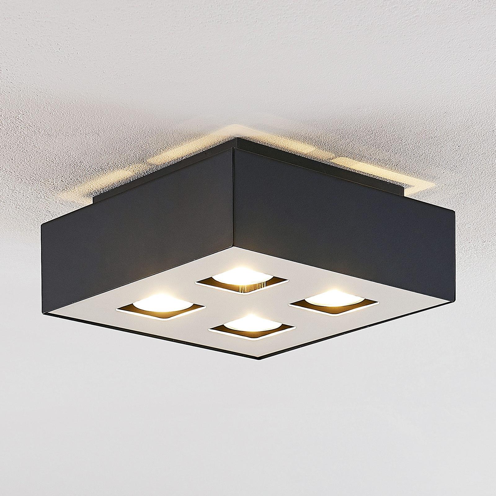 Lindby Kasi lampa sufitowa, 4-punktowa, 24 x 24 cm