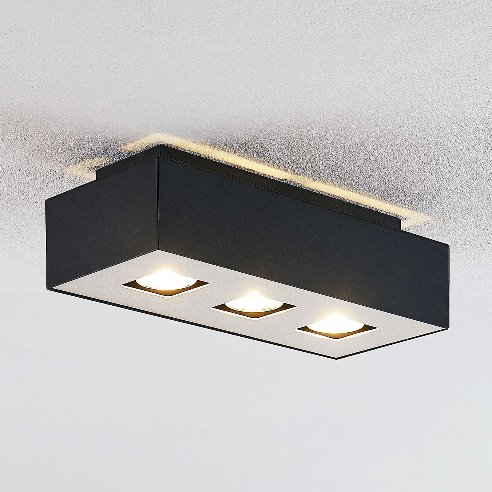 Lindby Kasi lampa sufitowa, 3-punktowa, 34 x 14 cm