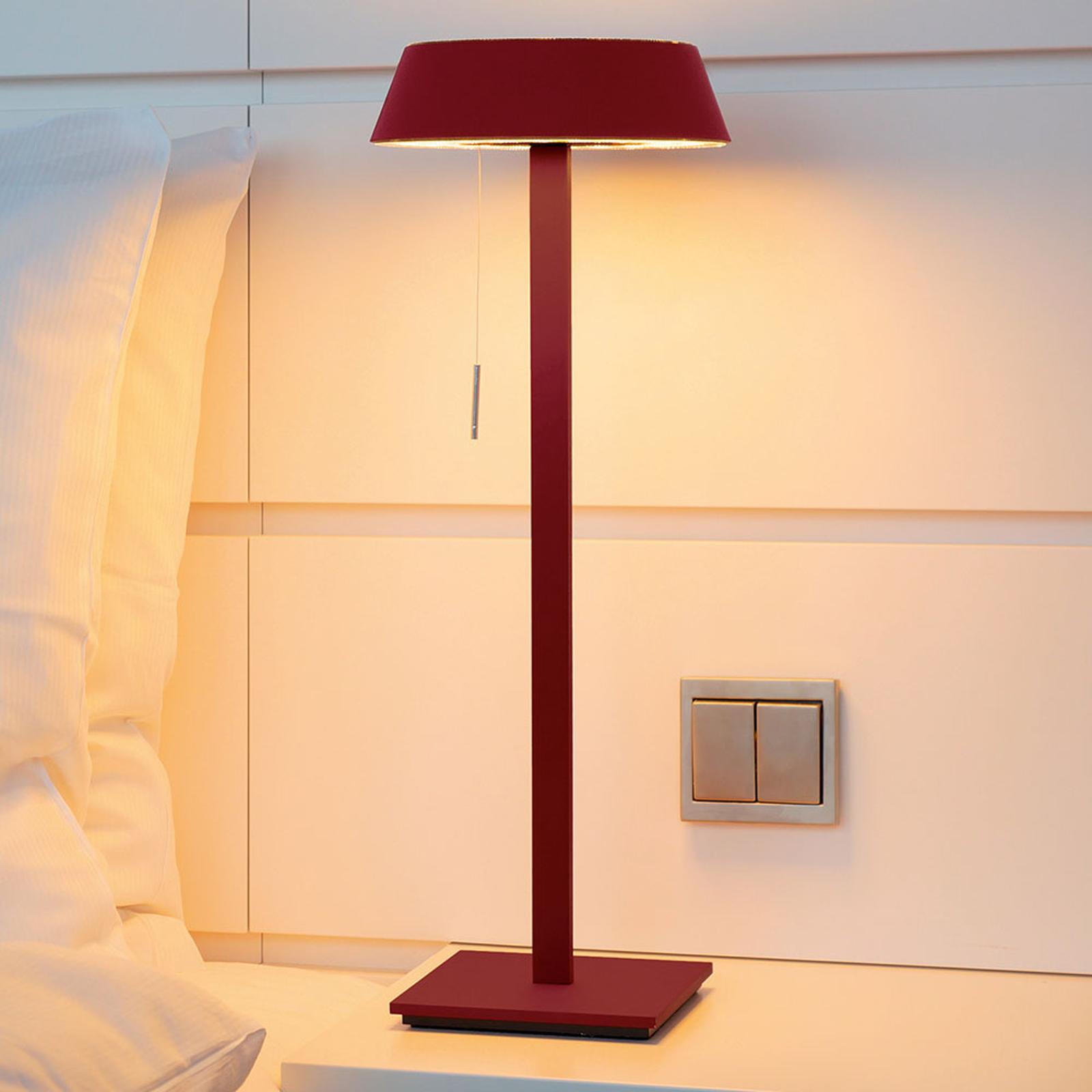 OLIGO Glance lampe à poser LED rouge mate