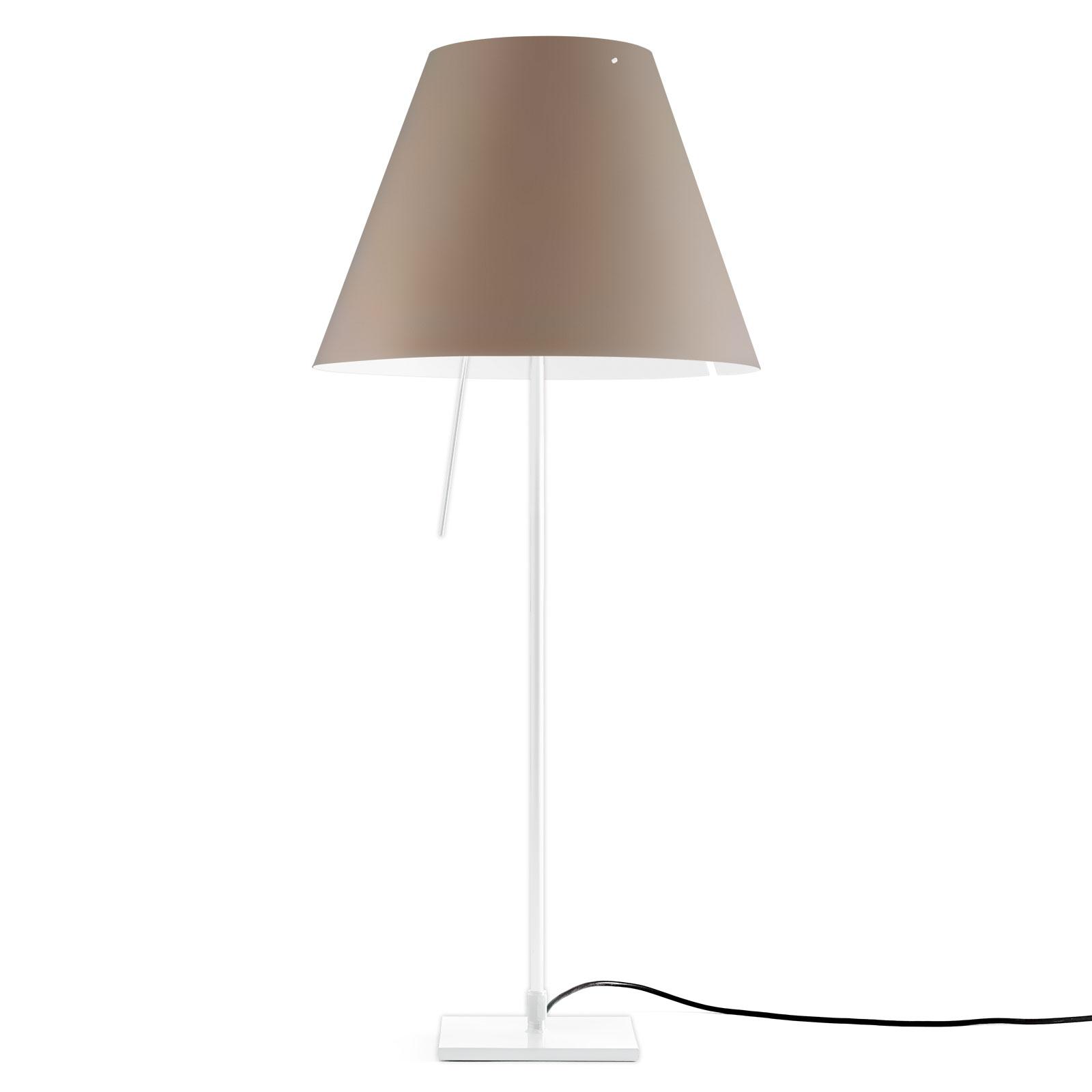 Luceplan Costanza Tischlampe D13if weiß/nougat